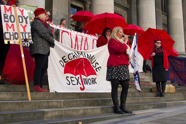 Мітинг у Південній Австралії на підтримку декриміналізації проституції