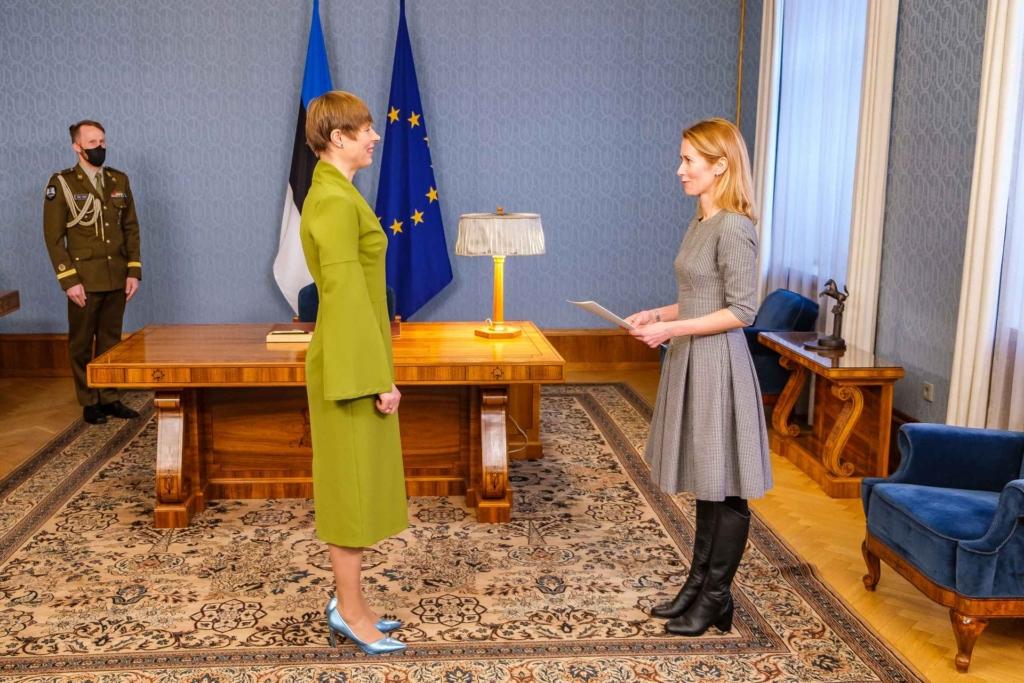 Кая Каллас та президентка Естонії