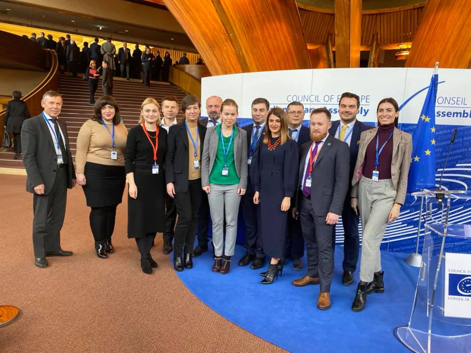 Українська делегація в ПАРЄ, січень 2021