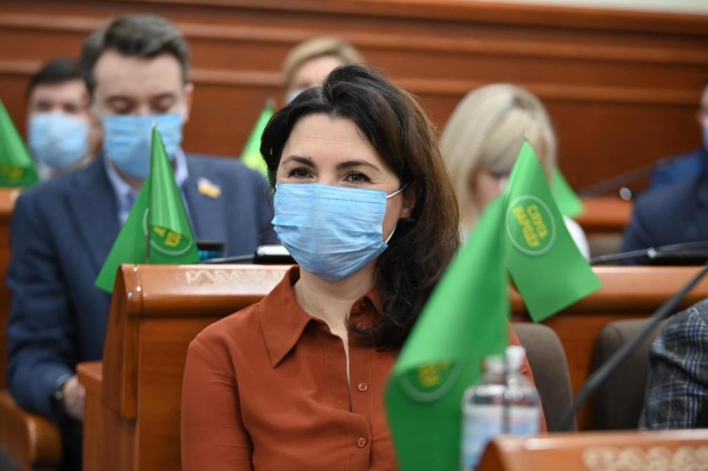 Євгенія Кулеба на сесії Київської міської ради